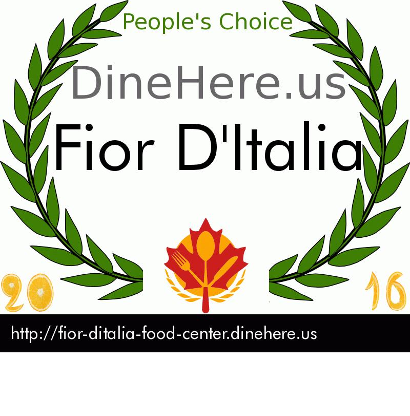 Fior D'Italia DineHere.us 2016 Award Winner